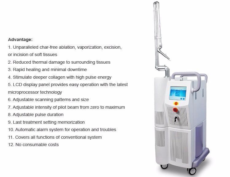 Co2 Laser 40W Tem00 Hydrogen Generator Co2 Fractional Laser for Vaginal Tightening Laser Acne Scar Removal Skin Rejuvenation Equipment