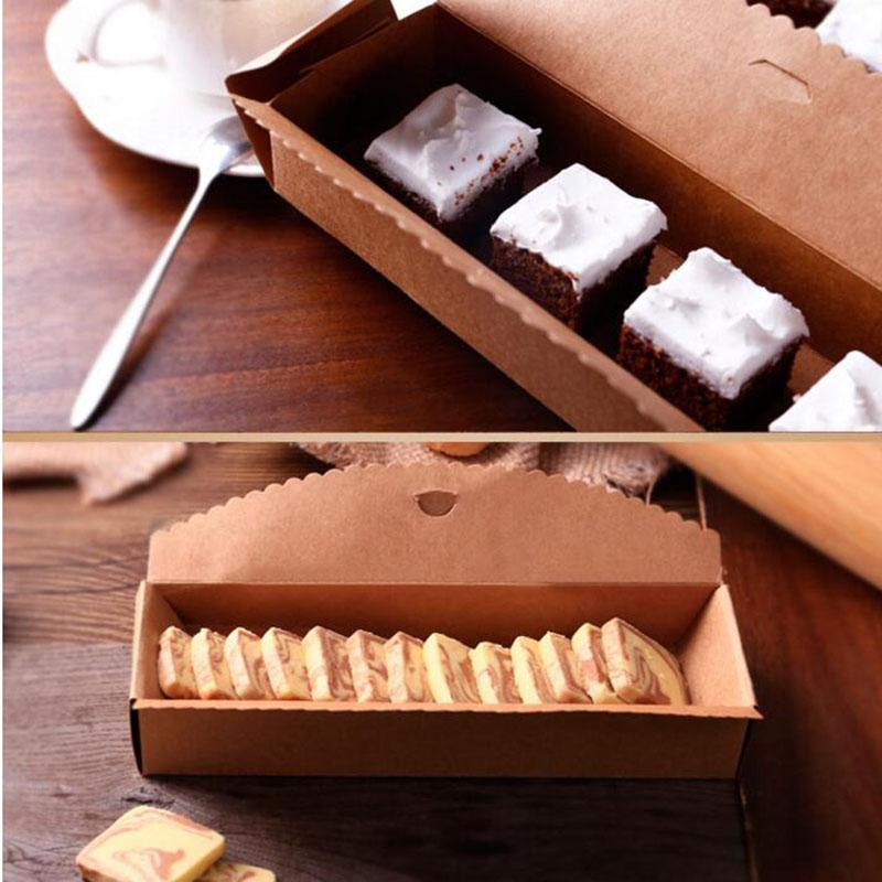 Baking Packing Box Cardboard Box Macaron Packaging Kraft Paper Boxes Jewelry Cake Gift 23*4*7cm About DHL