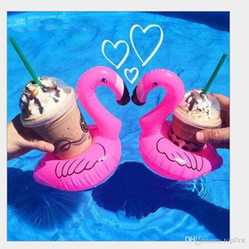Flamingo Shape Drink Can Holder Inflatable Pool Toy Kid Party Favor Supply Gift Inflatable Swimming Pool Toy Party