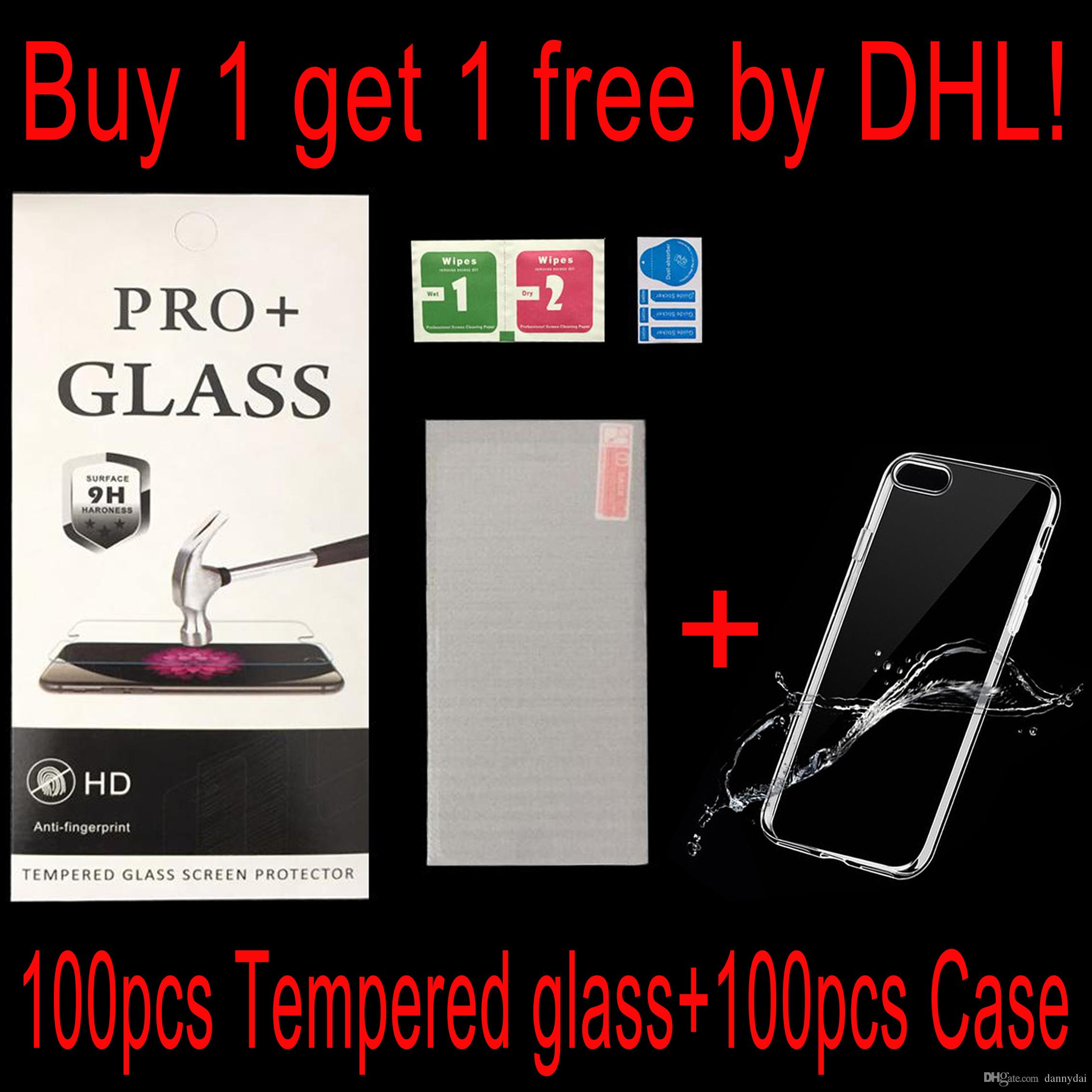 Tempered Glass 100 Free Case For Xiaomi Redmi Note 4x 4a Note 5 Max2 Galaxy S8 Wholesale Buy 1 Get 1 Free Mobile Phone Screen Protectors Phone Screen