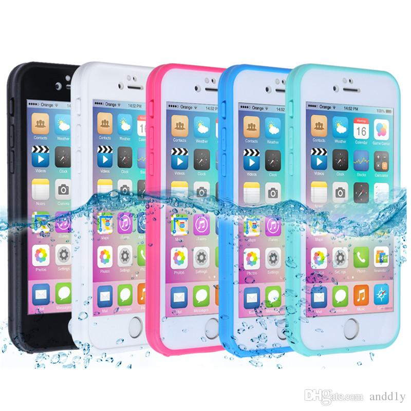 e77a6ca58f 360° Waterproof Dustproof Rubber Phone Case Cover For IPhone X 8 PLus 6 6s  7 Plus 5 5s Cell Phone Case Wholesale Clear Cell Phone Cases From Andd1y,  ...