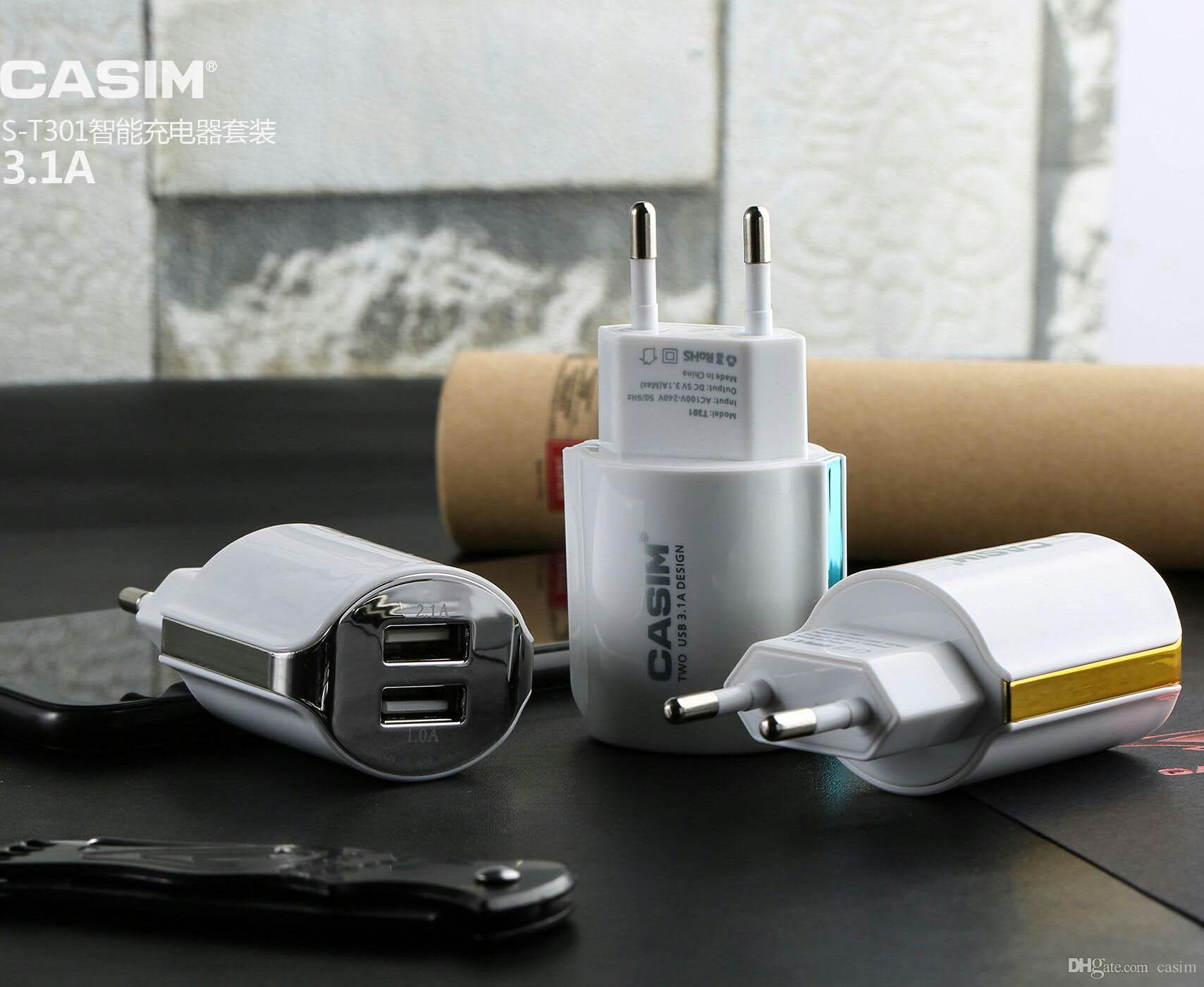 Iphone Samsung Şarj için Mikro Tip C USB Kablosu Ev Seyahat Adaptörü AB Kitleri 2 in 1 Yeni Paket Için Galaxy S4 S5 S6 S7 S8 Duvar Şarj