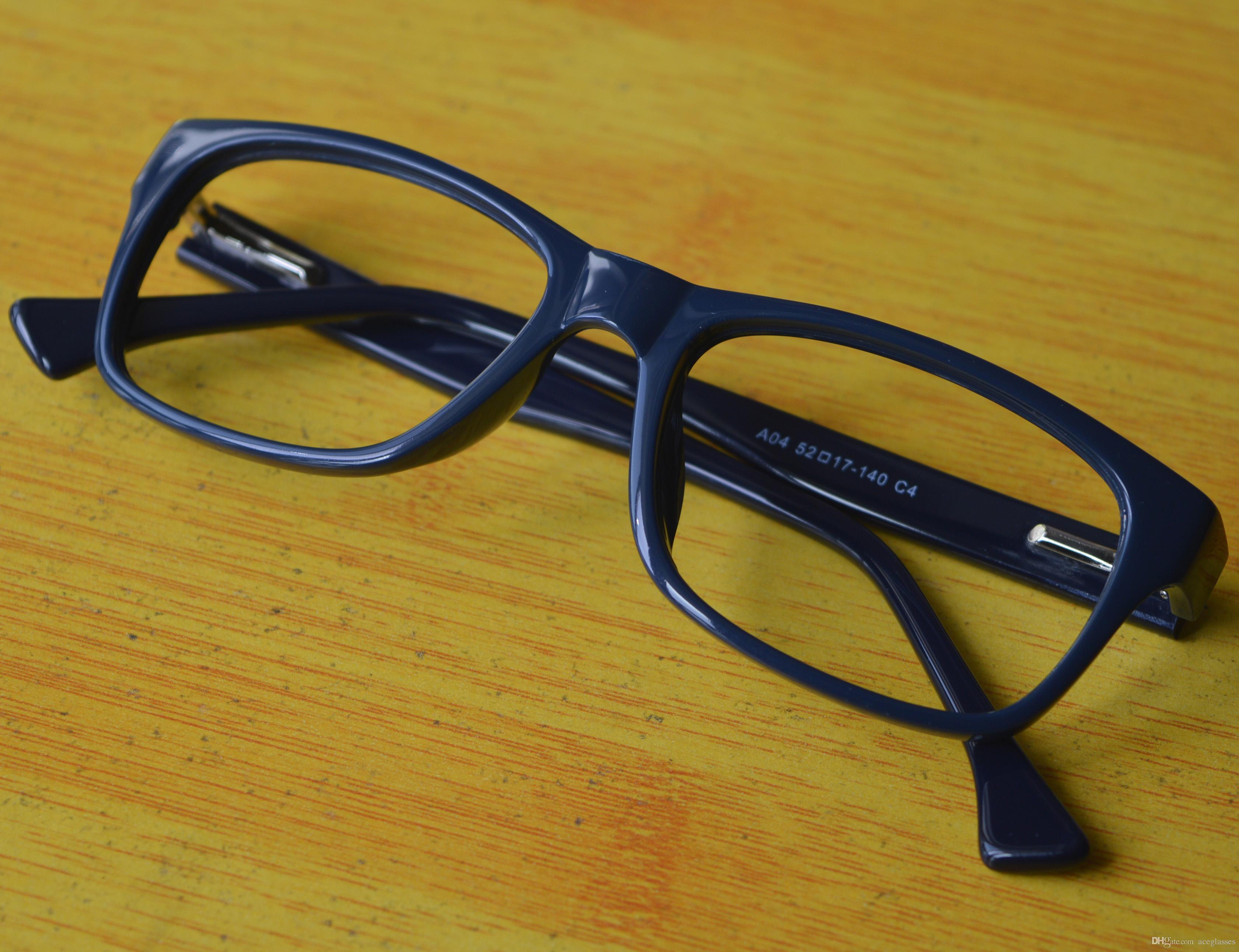 d80ac526afd Men Women Plastic Acetate Frames Spring Hinges RX Prescription Glasses Navy  Blue Brille Fassung Gestel Glasses Frame Optical Frames From Aceglasses