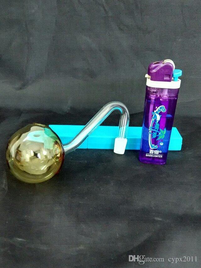 Cam Boru Petrol Kuyuları Dropper ile Sigara Renk büyük kabarcık pot cam bonglar aksesuarları, Benzersiz Yağ Brülör Cam Boruları Su