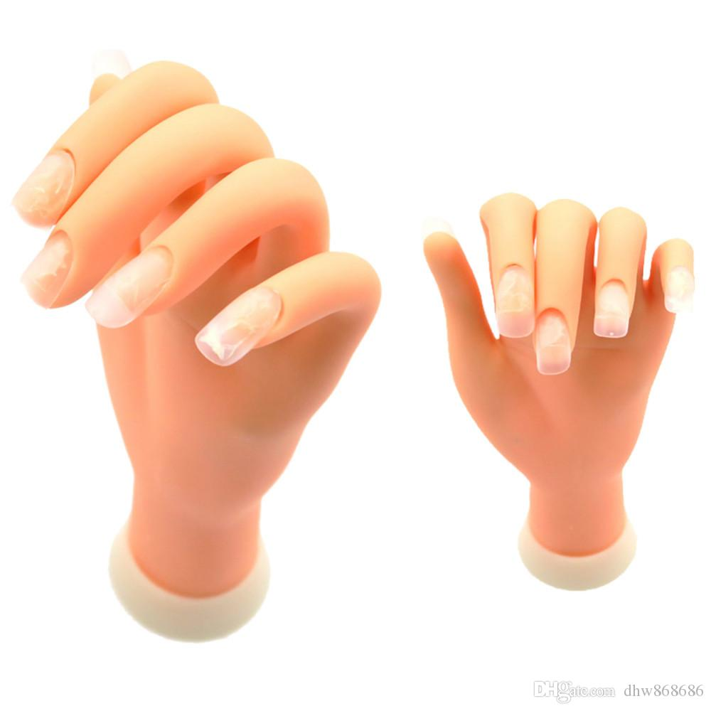 Flexible Soft Plastic Flectional Mannequin Model Fake Hand For Nail ...