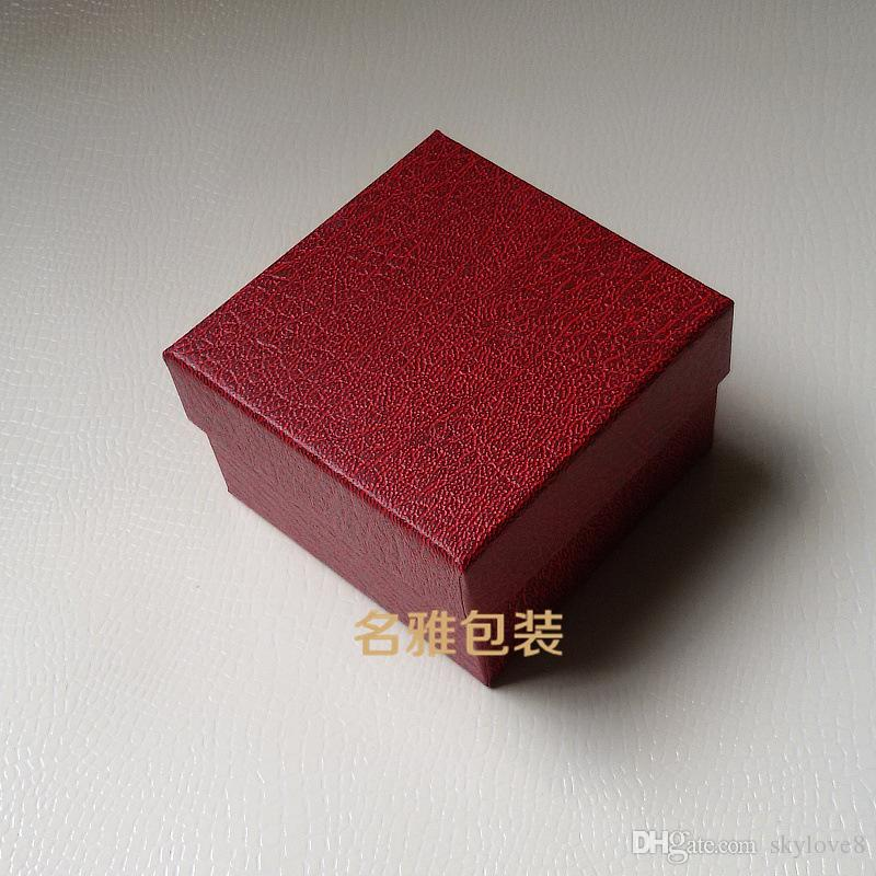 2017 Imitation leather litchi pattern watches box watches packaging box jewelry gift box support custom logo