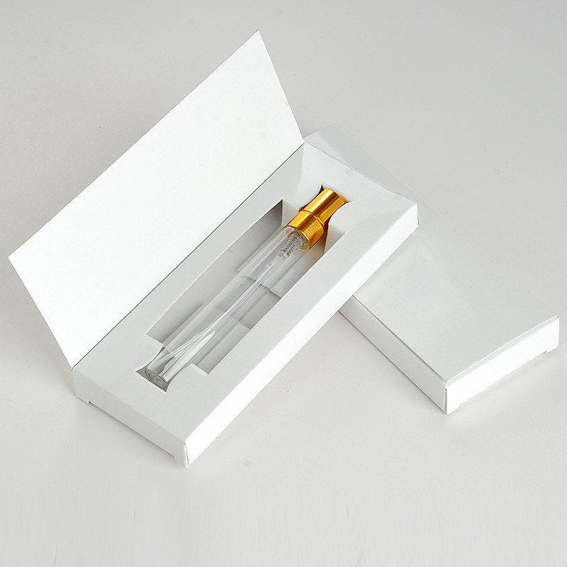 5 ML 10 ML botella de vidrio perfume atomizador botella de spray de perfumes con caja de embalaje cosmético muestra frascos rellenables f20172469