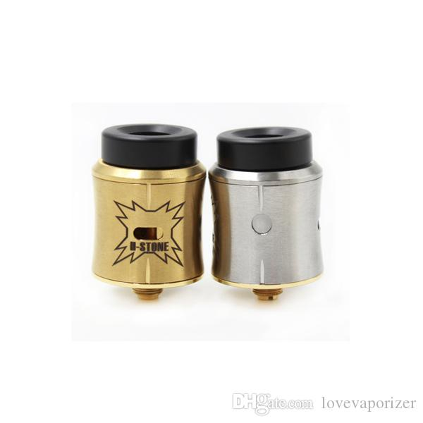 E sigaretta HStone Sith RDA atomizzatore con foro largo Drip Tip Peek isolatore 24mm H-stone Sith atomizzatore AFC Fit Vape Mod DHL gratis