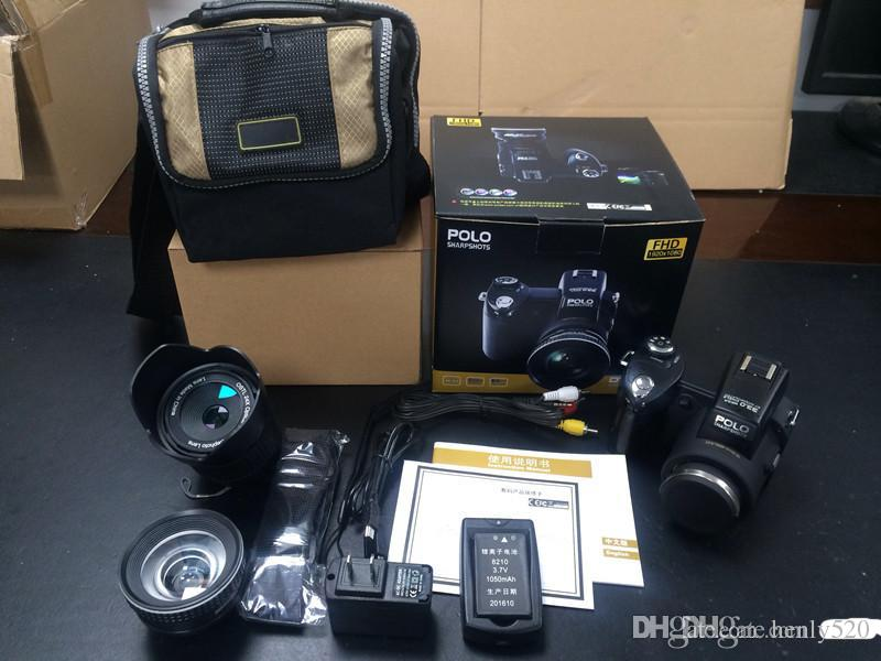 Yeni PROTAX POLO D7100 dijital kamera 33MP TAM HD1080P 24X optik zoom Otomatik Odaklama Profesyonel Kamera