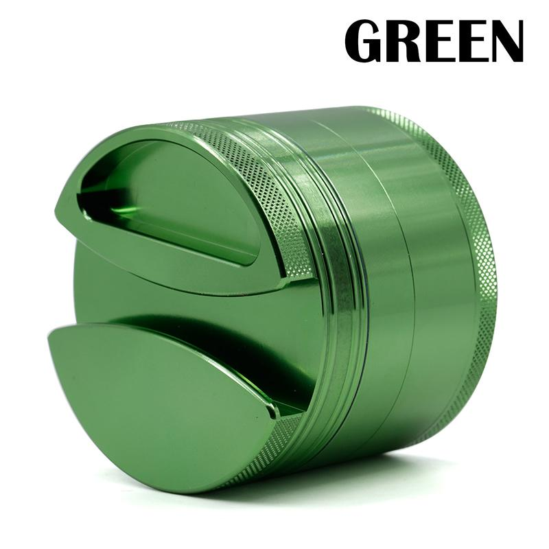 New style 4 layers aluminium alloy herb grinder 75mm diameter metal smoking grinder tobacco crusher for twisty glass blunt 4407 0266146