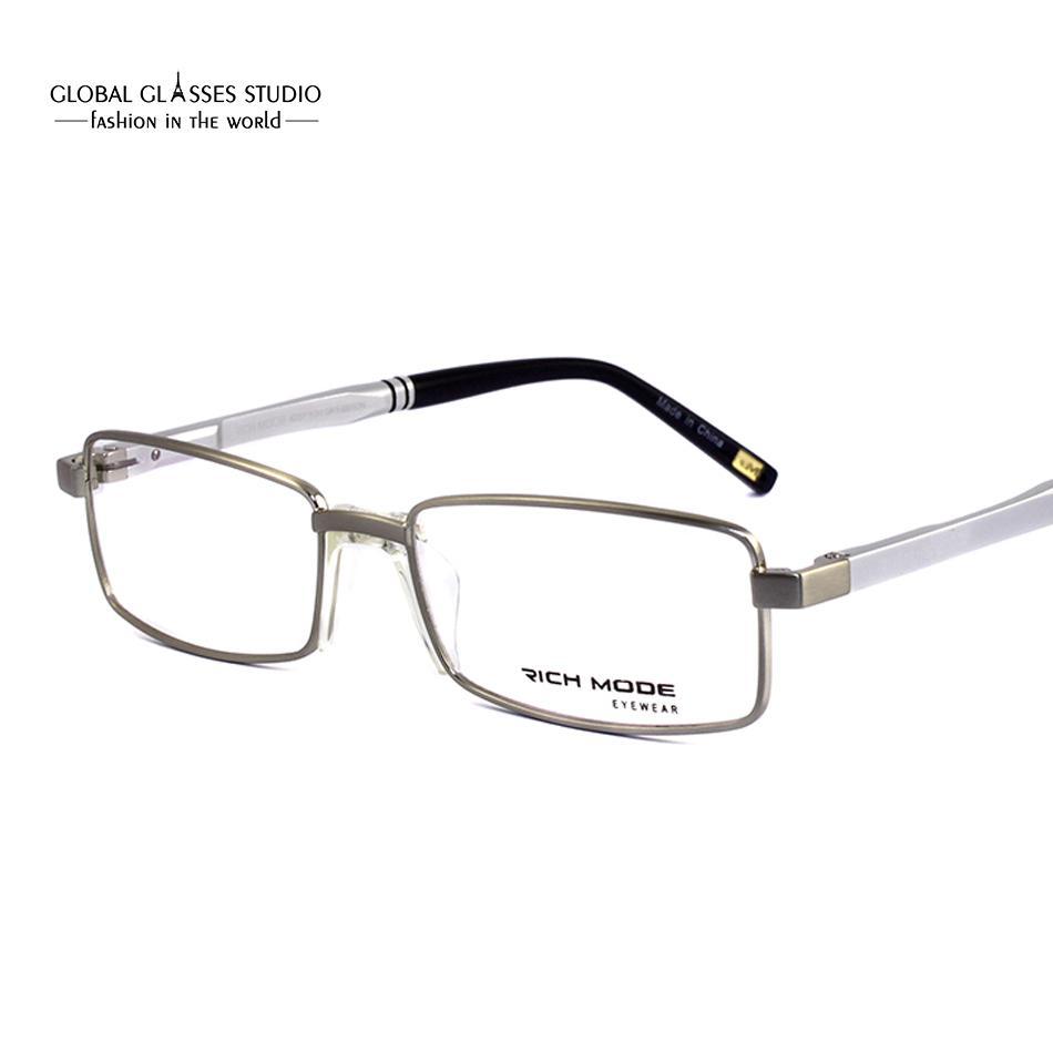 Best New Simple Men Design Frame Glasses Brand Metal Frames Aluminum ...