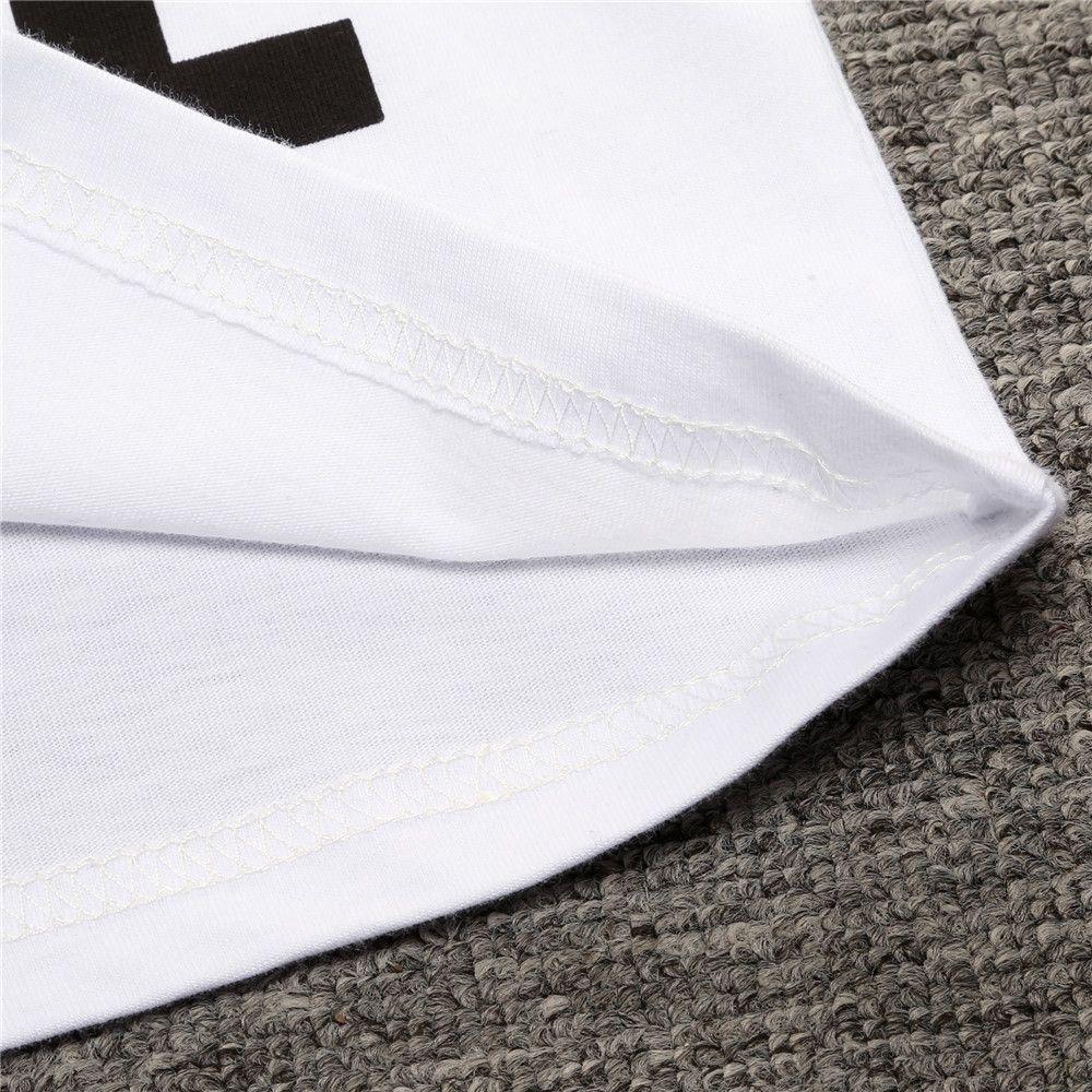 Hooyi Été Bébé Garçons Vêtements Ensemble Blanc T-Shirt + Longue Croix Noir Pantalon Enfants Costume Coton Enfants Vêtements Costume Costumes De Mode Tee Shirts