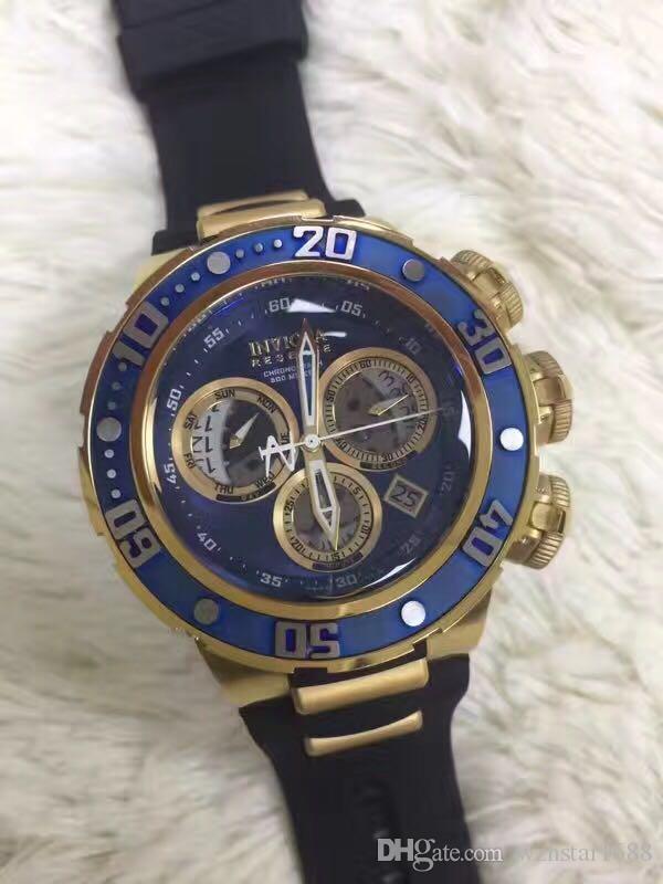 5ded52399fdf Compre Hombres De Calidad Caliente 0361 Reserve Collection Venom  Chronograph 18k Rose Reloj De Acero Inoxidable Chapado En Oro A  160.81 Del  Wzhstar1688 ...