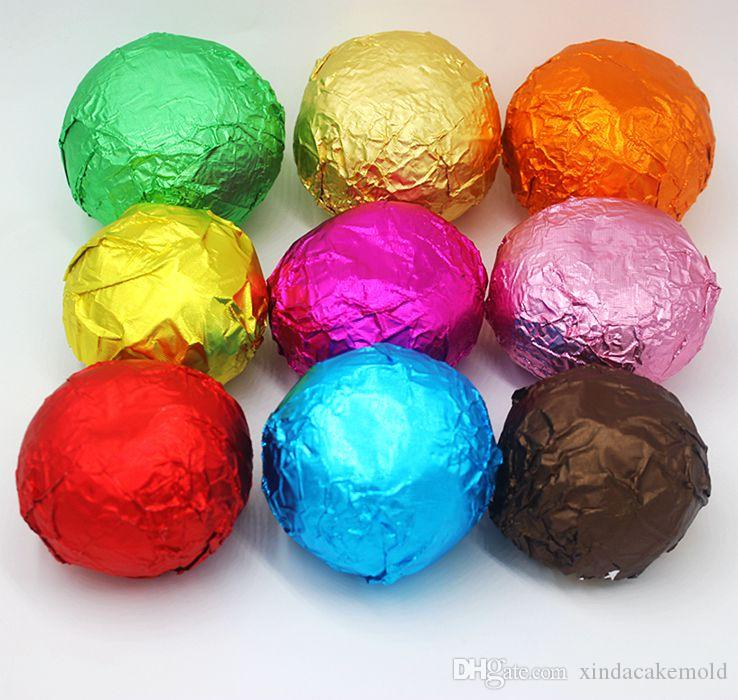 New Arrive Chocolate Package Tin Foil Baking Paper Thickening 8 Colours Candy Sugar Tea Wrapping Paper Decoration 16*16cm