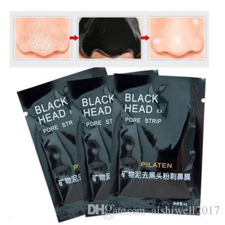 Pilaten Yüz Kara Maske Yüz Bakımı Burun Akne siyah nokta Remover Mineraller Gözenek Temizleyici Siyah Kafa Şerit maquiagem Maske