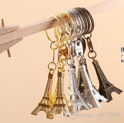 عشاق زوجين مفتاح الإعلان هدية حلقة المفاتيح سبيكة الرجعية برج ايفل مفتاح سلسلة برج الفرنسية فرنسا تذكارية باريس كيرينغ الموجودة قطع