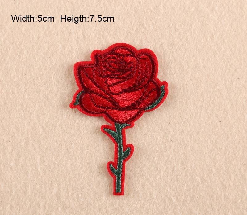 11 장미 꽃 자수 패치 의류 붙여 꽃 스티커 작은 로즈 지갑 가방 패치 무료 배송
