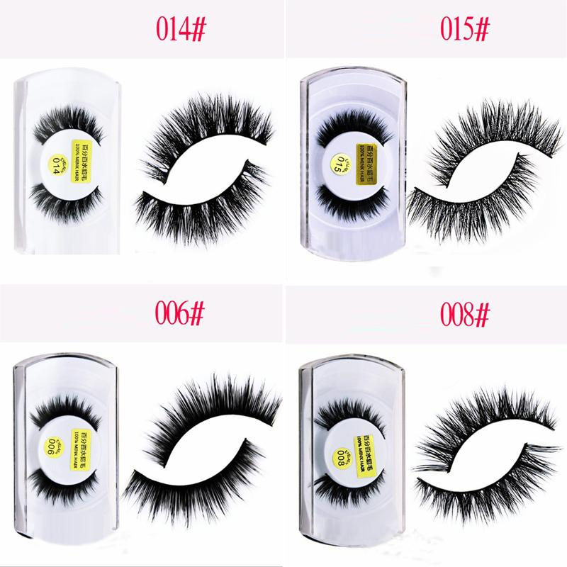 8 Styles Gorgeous 100 3d Mink Eyelashes Fake Eyelashes Natural