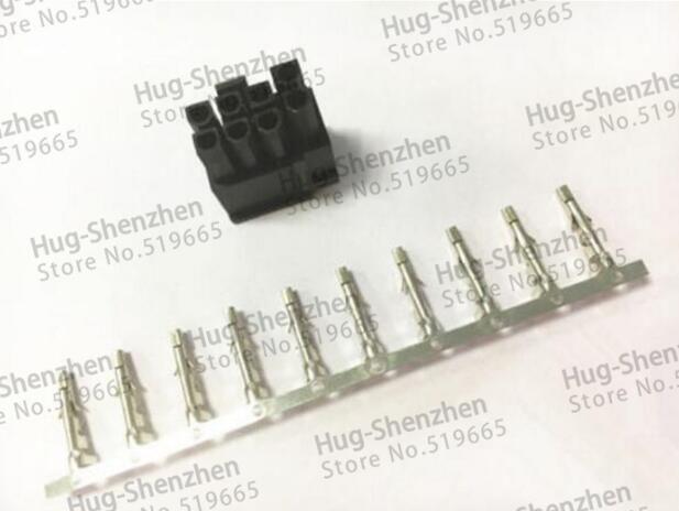 GPX 100X ATX / EPS PCI-E 4.2mm 5557 pin 6 + 2 Pin 6 + pin maschio Connettore di alimentazione Custodia guscio in plastica con perno terminale 5557