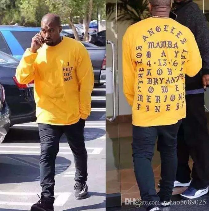 new arrivals ecb86 9aa00 Kanye West I Feel Like long sleeve commemorate T shirt stephen curry jersey  rick and morty