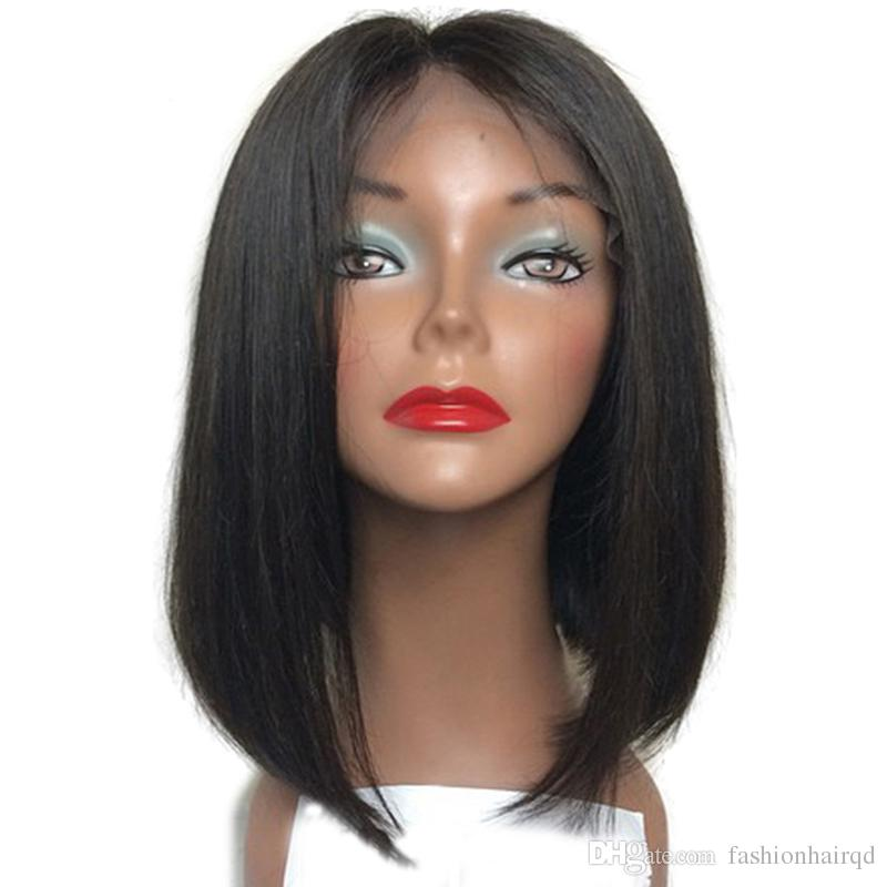 Silk Top Full Lace Wigs With Baby Hair Unprocessed Indian Virgin Human Hair Short BOB Silk Base Lace Front Wigs For Black Women
