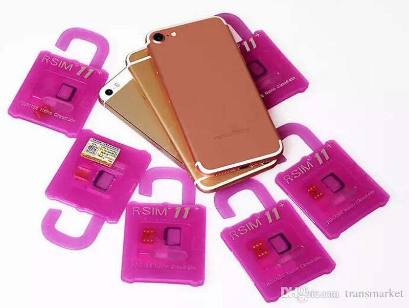 Rsim 11+ r sim 11 + RSIM11 + r sim11 + plus entsperren karte für iPhone 7 plus iphone 6 entsperrt iOS 10.x-7.x 4G CDMA GSM WCDMA SB AU SPRINT PK 10
