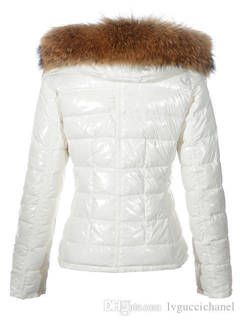 Fashion new Women Casual Down Jacket Down Coats Women Outdoor big Fur Collar Warm Feather dress Winter Coat outwear Jackets M207C