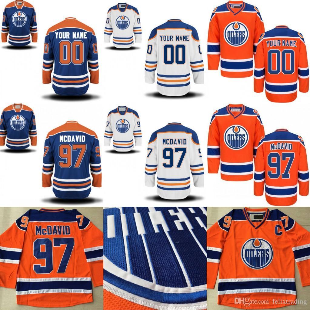 911e20e30d6 Edmonton Oilers Jersey Leon Draisaitl Connor McDavid Milan Lucic ...