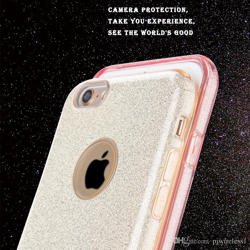 For iphone 6s 6 plus LG K20 plus LV5 V5 Metropcs stylus 2 plus 3in1 case Stents rubber soft glitter stickers B
