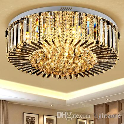 high end lighting fixtures. LED Crystal Dimmable Chandeliers Modern Design High End K9 Round Chandelier  Led Ceiling Lighting Living Room Bedroom Lightings High End Lighting Fixtures S