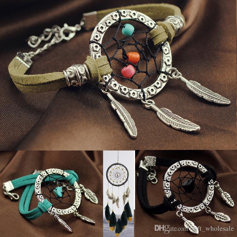 2017 Vintage Enchanted Forest Mini Dreamcatcher Bracelet À La Main Dream Catcher Net Bijoux Décoration Ornement Diamètre 3 cm