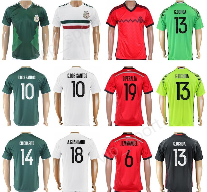e0cd7efbbb0 ... Home Black Soccer Jersey 2017 Mexico Jerseys Soccer 17 18 Customized National  Team Mexican Football Shirt 14 CHICHARITO 10 G ...