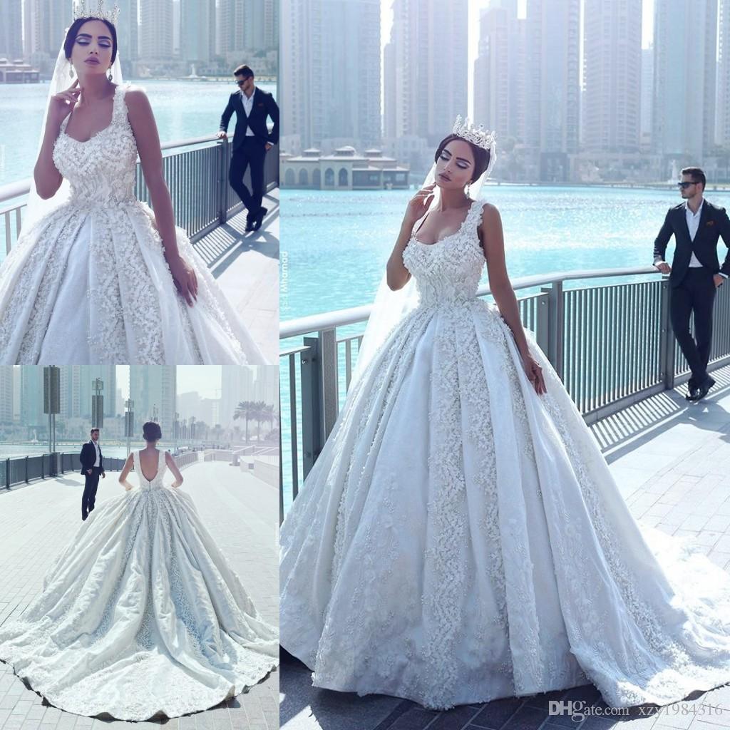 Discount Gorgeous Said Mhamad Wedding Dress Square Neck Luxury ...