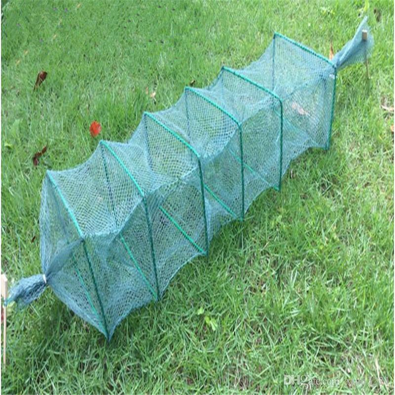 lenght 1m 6section 4 holes fishing net china outdoor pesca shrimp net fishing net fishing network for loach and shrimp cage