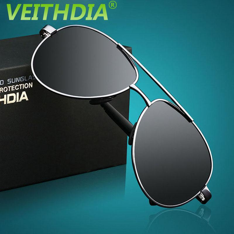 f70ffbcd66 VEITHDIA UV400 Pilot Yurt Glasses Men Polarized Sunglasses Brand Logo  Design Driving Sports Riding Glasses Goggles 2017 With Original Box  Eyeglasses ...