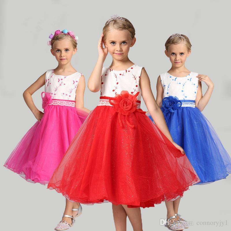 7285c3521a9a Summer Christmas Flower Girls Dress Wedding Sequined Girl Clothing Princess  Dresses Baby Girl Kids Party Dress For Girls Clothes Flower Girls Dresses  Ivory ...