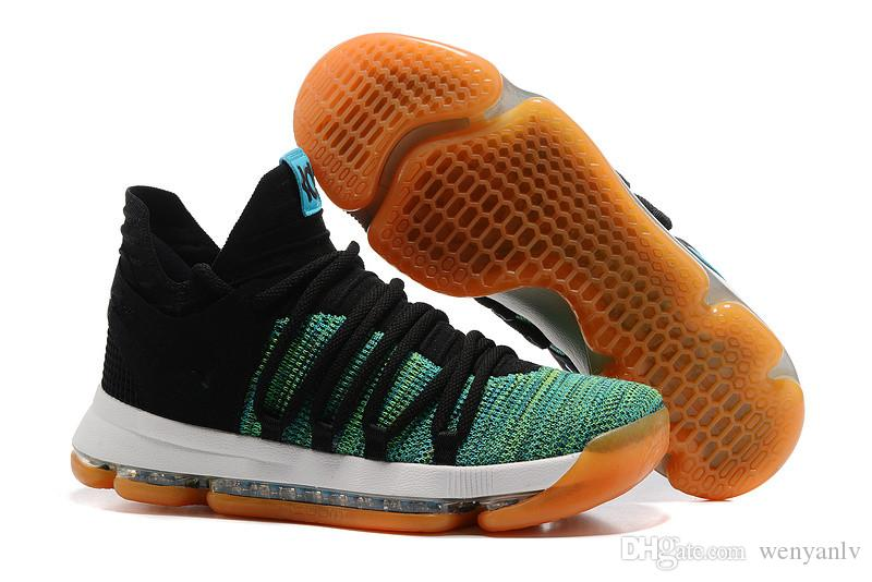 premium selection 96cde a8bb9 2019 New Arrival 2017 KD 10 X Oreo Still Zoom KD10 Anniversary Black Green  White Chrome Pure Platinum Mens Basketball Shoes US7 12 DROP SHIP From  Wenyanlv, ...