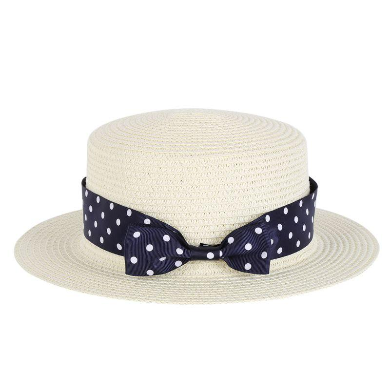 dd3b58a3108 2019 Wholesale Women 2017 Summer Beach Wide Brim Sun Hat Straw Hat Floppy  Pearls Decorate Caps From Mssweet