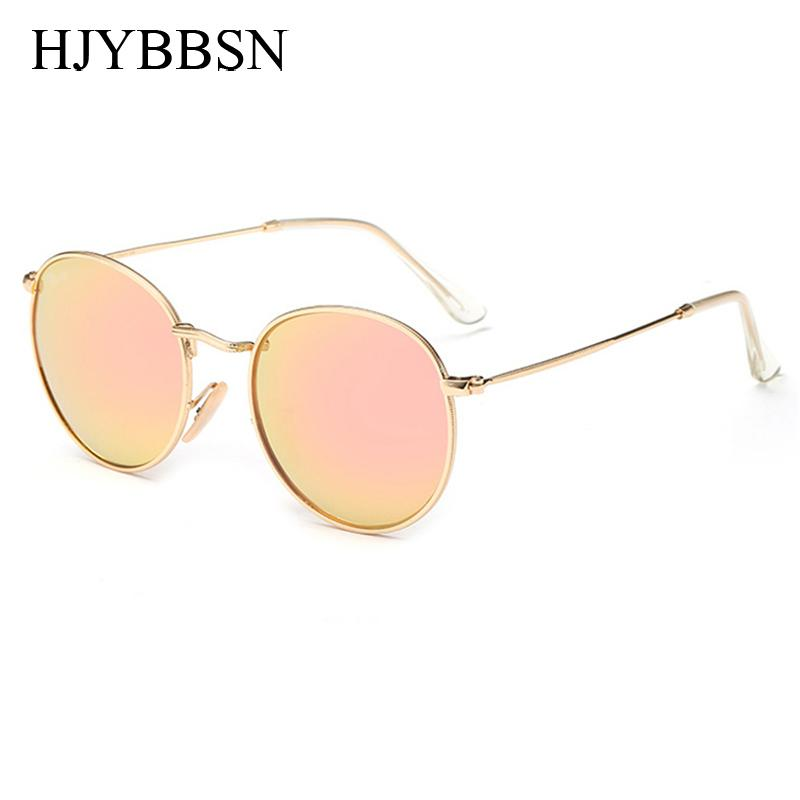 52d52c4bb1d Wholesale WITH CASE Round Sunglasses Women Men Female Brand Metal Frames  Mirror Vintage Sun Glasses For Women Retro Male Oculos De Sol Mens  Sunglasses ...