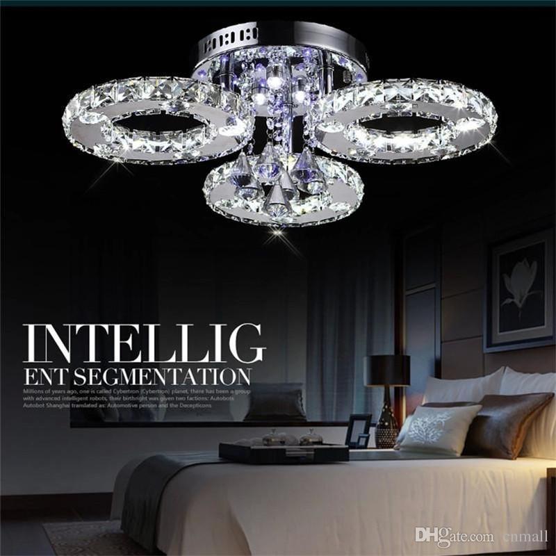 Luxurious Living Room LED Chandeliers K9 Crystal Ceiling Light Dia40/60/80/85cm Round LED Chandelier 3/5/6/7 Heads Dinning Room Restaurant
