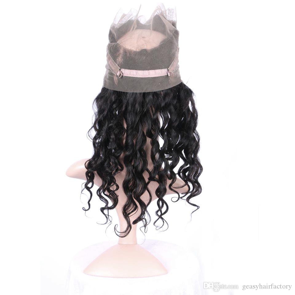 Pre Plucked 360 Frontal With Natural Hairline Peruvian Loose Wave Human Hair Full Frontal Lace Closure LaurieJ Hair