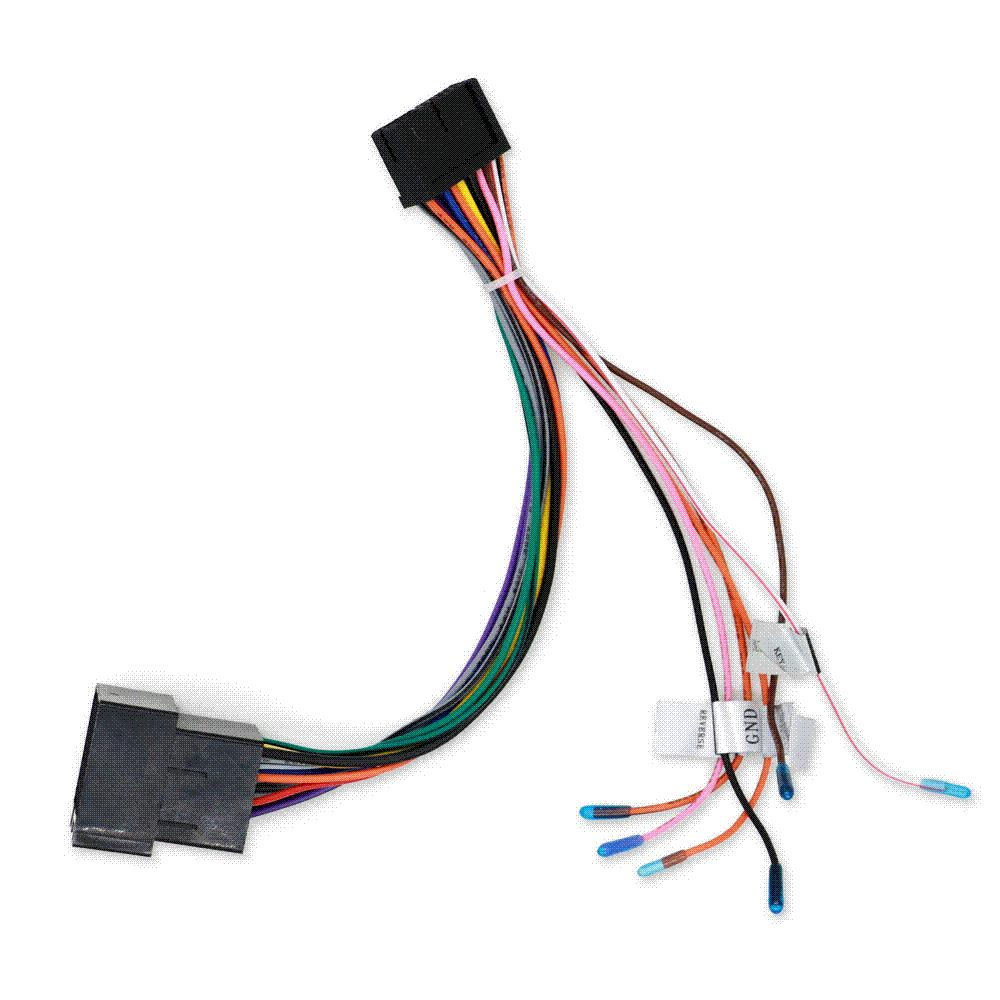 car stereo radio iso wiring harness connector 2017 car stereo radio iso wiring harness connector cable wholesale car wiring harness connectors at bayanpartner.co