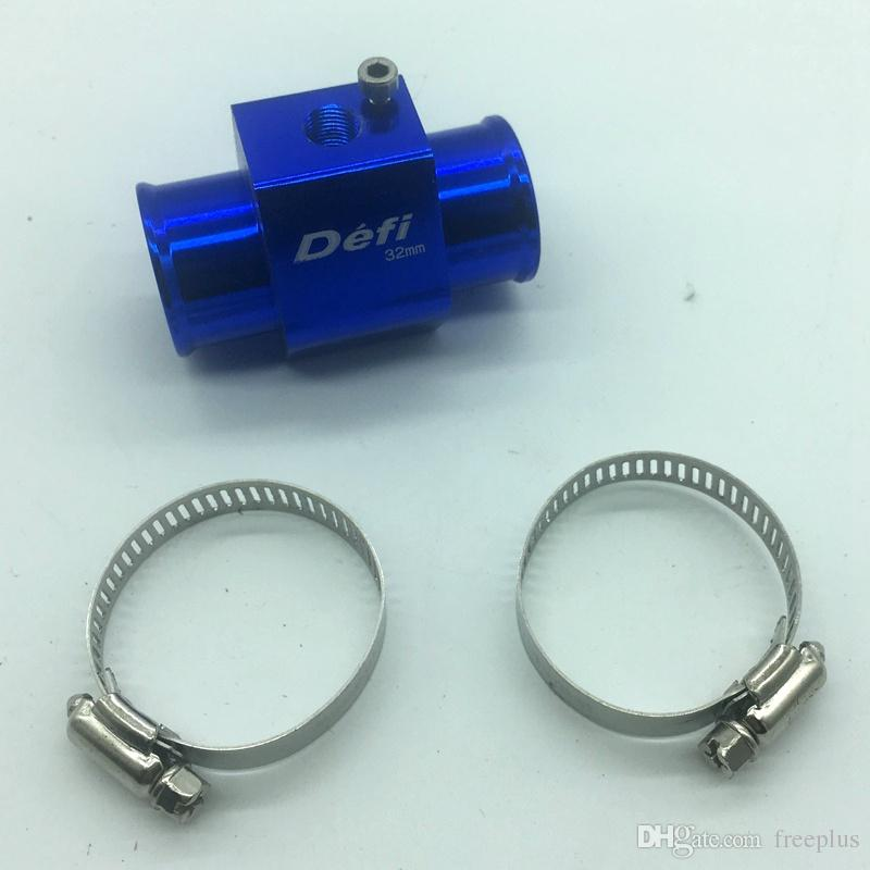 Indicador de Temperatura del Agua Defi de Color Azul Adaptador del Sensor de Manguera de Radiador de Tubo Conjunto 28mm / 30mm / 32mm / 34mm / 36mm / 38mm / 40m
