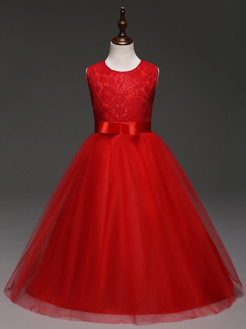 Vêtements pour enfants fille enfants vêtements broderie dentelle fleurs filles robe pour événements de mariage fête bébé fille robe d'anniversaire robes de cérémonie