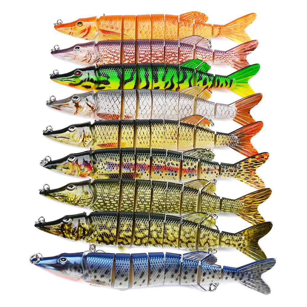 Big Lifelike Multi-articulado 9-segmento Pike Iscas 8