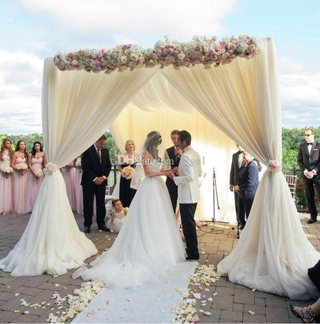 adjustable 3*3*3m square single tube crossbar of wedding piping frame , pipe and drape wedding arch, chuppah, backdrop stand