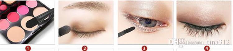 Wholesale - Fashion multi color makeup brush dust brushs nail universal brush Sponge brush beauty tools Eye shadow stick FA013