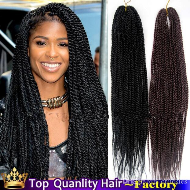 Senegalese Twist Hair Crochet Braids Extensions 22 Inch Ombre