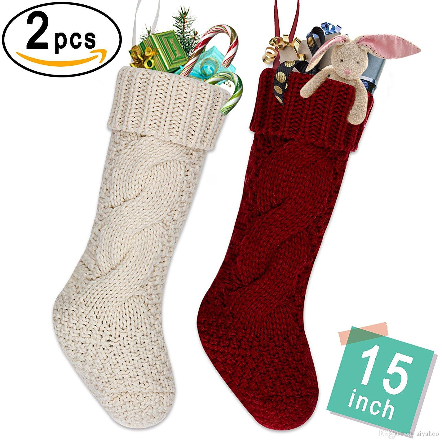 Aiyahoo Small Knitted Christmas Stockings Personalized Christmas ...