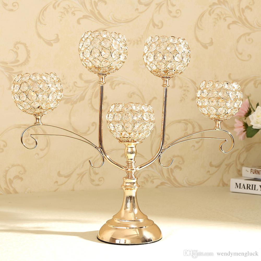 Home Decoratio Crystal Candle Holder Event Party Supplies ...